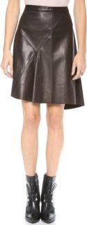 10 Crosby by Derek Lam Asymmetrical Leather Skirt