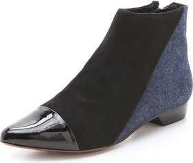 10 Crosby by Derek Lam Austin Pointed Flat Booties