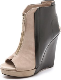 10 Crosby by Derek Lam Gen Bicolor Wedge Booties