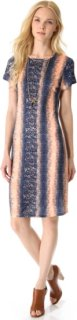 10 Crosby by Derek Lam Lizard Jersey Tee Dress