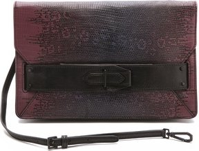10 Crosby by Derek Lam Ombre Lizard Folio Clutch
