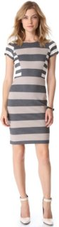 10 Crosby by Derek Lam Short Sleeve Striped Dress