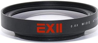 16x9 ExII 0.6X Wide Angle Lens Adapter For Camcorders With 72mm Filter Thread - Compatable With Canon XL-H1 Canon XH-A1 Canon XH-G1 Canon Xl-2 Canon XL 1 Panasonic HPX170 Panasonic HMC150 Panasonic DVX100 Sony HVR-Z7U HVR-Z5U Sony HVR-Z1U Sony HVR-S270U Sony HDR-FX1 Sony HDR-FX1000