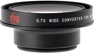 16x9 EXII 0.7x Wide Angle Converter with 43mm Step-Down Ring for Canon JVC Panasonic Sony & Similar Sized Camcorders