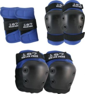 187 Knee Elbow & Wrist - 6 Pack Pad Set