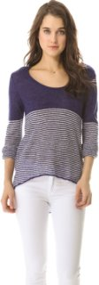 291 Long Sleeve Uneven Pullover