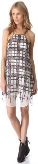 3.1 Phillip Lim Degrade Plaid Patchwork Apron Dress