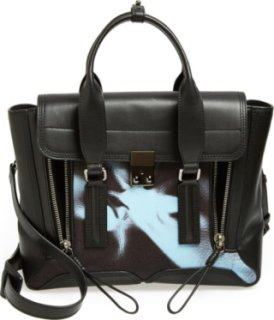 3.1 Phillip Lim Pashli Floral Panel Leather Satchel