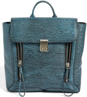 3.1 Phillip Lim Pashli Leather Backpack Black/ Turquoise