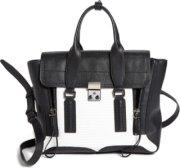 3.1 Phillip Lim Pashli - Medium Leather Satchel White/ Black