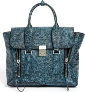 3.1 Phillip Lim Pashli - Medium Shark Embossed Leather Satchel
