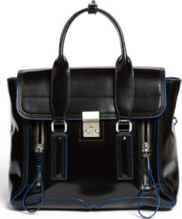 3.1 Phillip Lim Pashli - Medium Spazzolato Leather Satchel Black