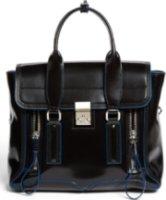 3.1 Phillip Lim Pashli - Medium Spazzolato Leather Satchel Black