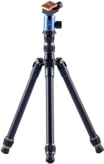 "3 Legged Thing X0a Tim Evolution 2 Compact Magnesium Alloy Tripod System with AirHed 0 Ball Head 29.68"" Max Height 26.45 lbs Load Capacity Blue"