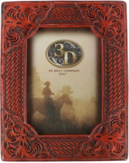 3D Basket Weave & Western Scroll Picture Frame