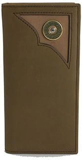 3D Leather and Camo Shotgun Shell Checkbook Wallet