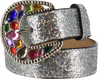 3D Rhinestone Buckle and Sparkle Belt