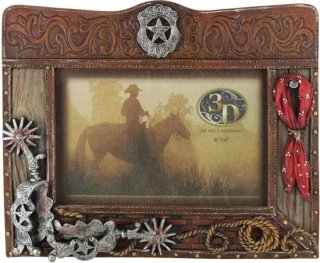 3D Western Themed Picture Frame