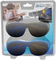 3D Video Wizard Console Signal Converter with 2 Pack of 3D Glasses Black