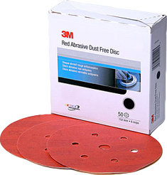 "3M 6"" Red Abrasive Hookit Disc D/F"