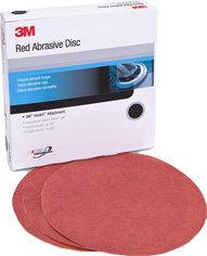 "3M 6"" Red Abrasive Hookit Disc"
