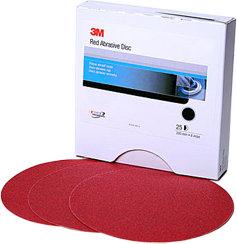 """3M 8"""" Red Abrasive Hookit Disc P80 (25)"""