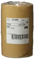"3M 8"" Stikit Gold Disc Roll Sandpaper P180A (125)"