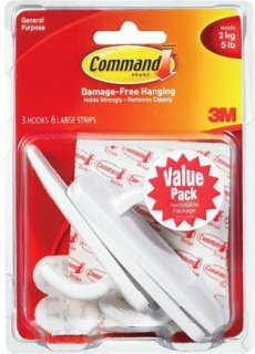 3M Command Adhesive Large Hooks Value Pack