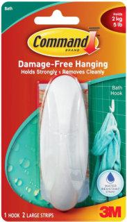 3M Command Large Bathroom Hook Water-Resistant