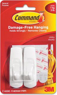 3M Command Medium Utility Hook - 2 Pack