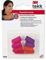 3M Disposable Earplugs (4 pair)