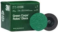 "3M Green Corps Roloc Disc - 2"""