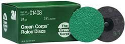 3M Green Corps Roloc Disc - 3""