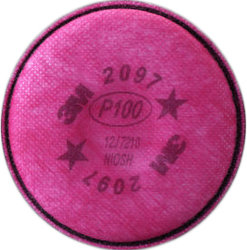 3M Particulate Filter 2097/07184(AAD) P100 with Nuisance Level Organic Vapor Relief (50)pr (Port Supply)