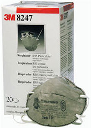 3M Particulate Respirator 8247 R95 with Nuisance Level and Organic Vapor Relief