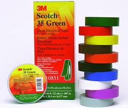 3M Scotch #35 Vinyl Electrical Color-Coding Tapes