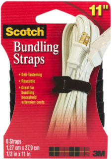 3M Scotch Bundling Straps - 6 Pack