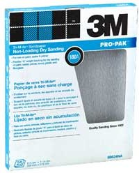 3M White Fre-Cut Sandpaper (SC) 220A Grit - Per Sheet
