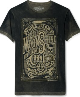 3rd & Army Gentlemen's Liquor Dead Wash Screen Print T-Shirt