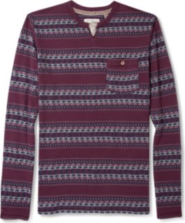 3rd & Army Long Sleeve Woodstock Split Neck Shirt