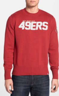 '47 Brand End Zone - San Francisco 49ers Crewneck Sweater Rescue Large
