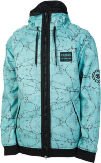 686 LTD Crooks & Castles Marble Bonded Tech Fleece Full-Zip Hoodie