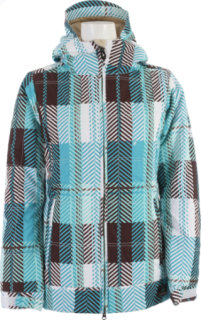 686 Mannual Echo Polyquilt Snowboard Jacket Turquoise Plaid