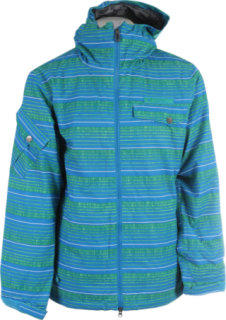 686 Mannual Etch Insulated Snowboard Jacket Bluebird Stripe