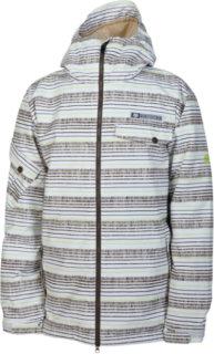 686 Mannual Etch Insulated Snowboard Jacket White Stripe