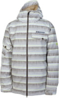 686 Mannual Etch Insulated Snowboard Jacket White Stripe