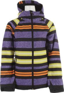 686 Mannual Heather Insulated Snowboard Jacket Iris Heather Stripe