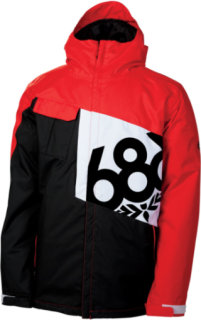 686 Mannual Iconic Insulated Snowboard Jacket Chili Colorblock