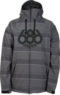 686 Plexus Revival Softshell Gunmetal Slant Stripe