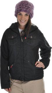 686 Levi Trucker Insulated Snowboard Jacket Black Heringbone